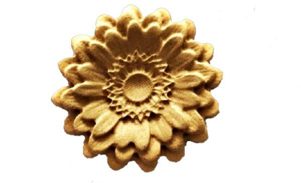 Ξυλόγλυπτο Λουλούδι  0354 5cm x 5cm