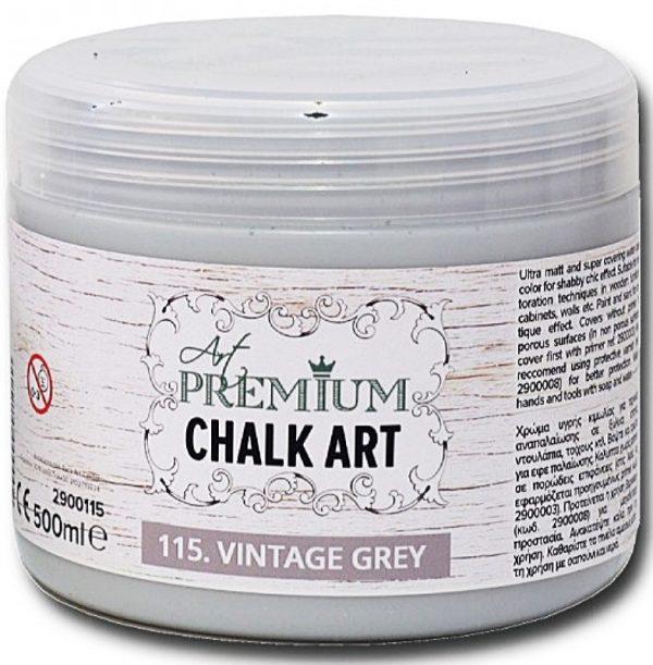 Χρώμα Κιμωλίας Art Premium Chalk Art - 115 Vintage Grey - 500ml