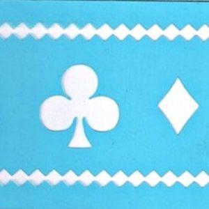 Στένσιλ Art Premium 2900601 - 7x15cm - Τράπουλα