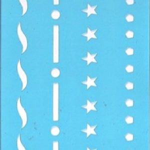 Στένσιλ Art Premium 2900602 - 7x15cm - Διακοσμητικές Γραμμές
