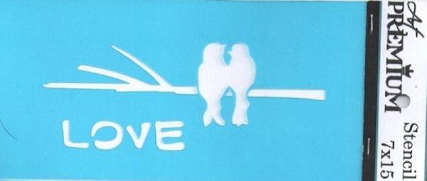 Στένσιλ Art Premium 2900603 - 7x15cm - Love Birds