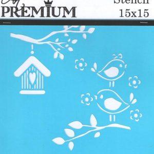 Στένσιλ Art Premium 2900616 - 15x15cm - Πουλάκια