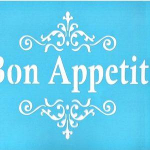 Στένσιλ Art Premium 2900617 - 15x20cm - Bon Apetit