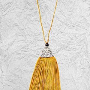 Χρυσή Διακοσμητική Φούντα 3425253 με Μεταλλικό Καπάκι 8cm