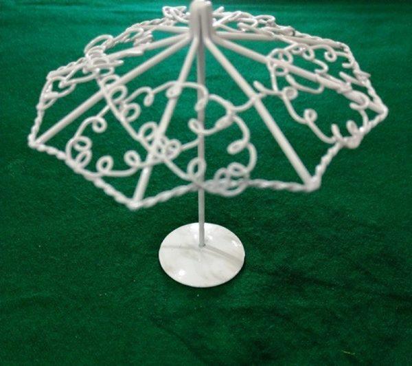 Μεταλλική Διακοσμητική Ομπρέλα Λευκή 3473009