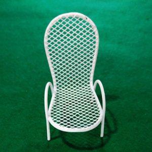Μεταλλική Διακοσμητική Καρέκλα Λευκή 3473011