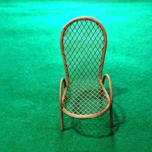 Μεταλλική Διακοσμητική Καρέκλα Καφέ 3473012