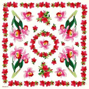 Ριζόχαρτο Χαρτοπετσέτας 5000496 - Ροζ Ίριδα - 50x50cm