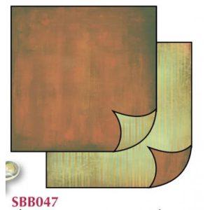 Χαρτί Scrapbooking 5001491 Stamperia Διπλής Όψης - Brown Fade/Green - 31x30cm