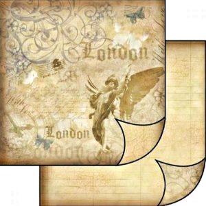 Χαρτί Scrapbooking 5001494 Stamperia Διπλής Όψης   - London - 31x30cm