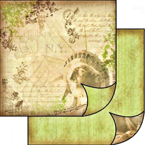 Χαρτί Scrapbooking 5001495 Stamperia Διπλής Όψης  - New York - 31x30cm