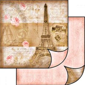 Χαρτί Scrapbooking 5001496 Stamperia Διπλής Όψης - Paris - 31x30cm