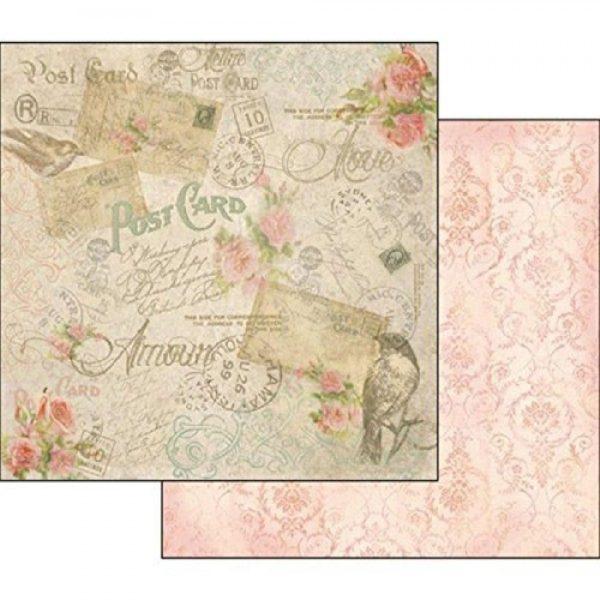 Χαρτί Scrapbooking 5001503 Stamperia Διπλής Όψης - Postcard - 31x30cm