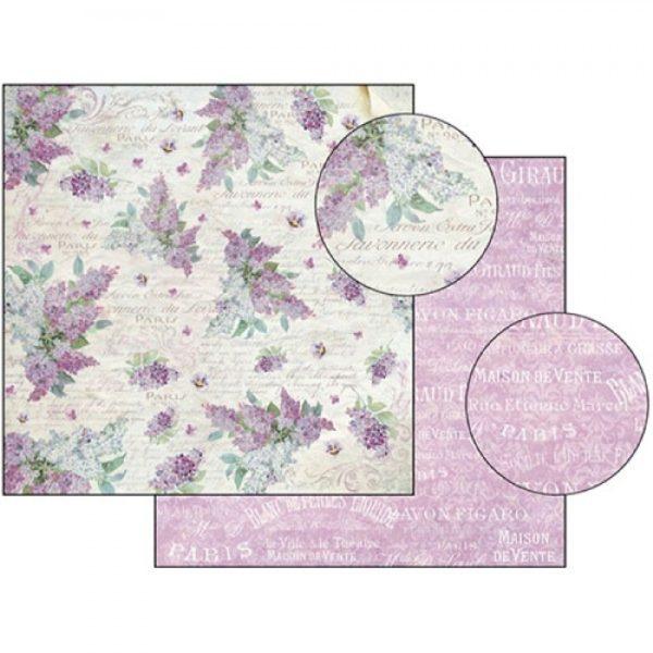 Χαρτί Scrapbooking 5001509 Stamperia Διπλής Όψης - Savonnerie Paris Lilac - 31x30cm