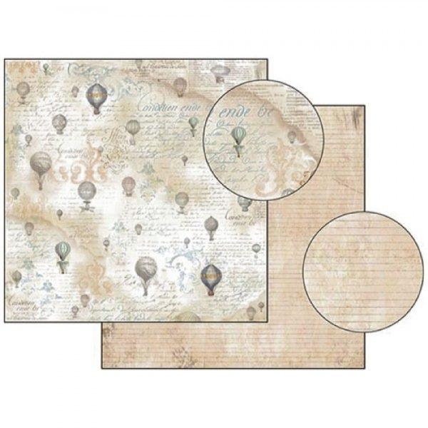 Χαρτί Scrapbooking 5001515 Stamperia Διπλής Όψης - Texture Le Ballon - 31x30cm