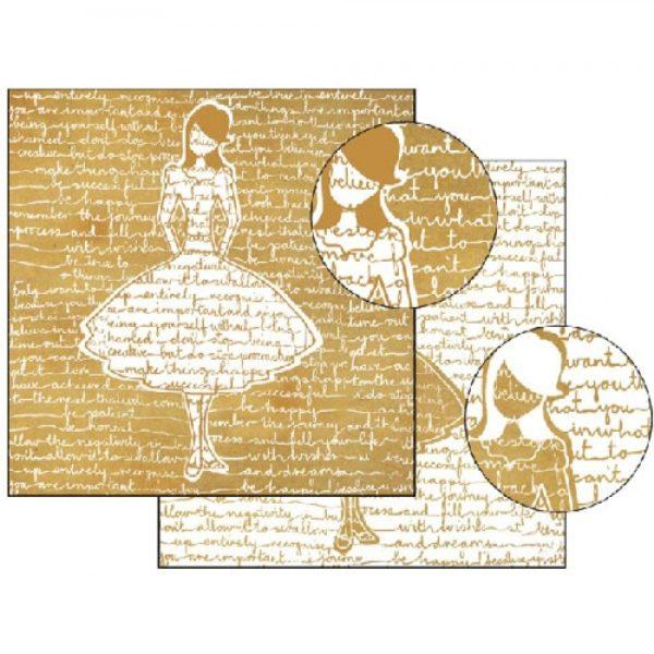 Χαρτί Scrapbooking 5001517 Stamperia Διπλής Όψης- Silhouette - 31x30cm