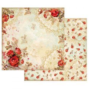 Χαρτί Scrapbooking 5001524 Stamperia Διπλής Όψης - Red Roses - 31x30cm