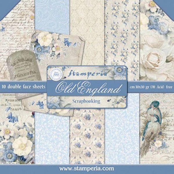 Σετ 10 Χαρτιά 5001534 Scrapbooking Stamperia Διπλής Όψης - Old England - 30x30cm