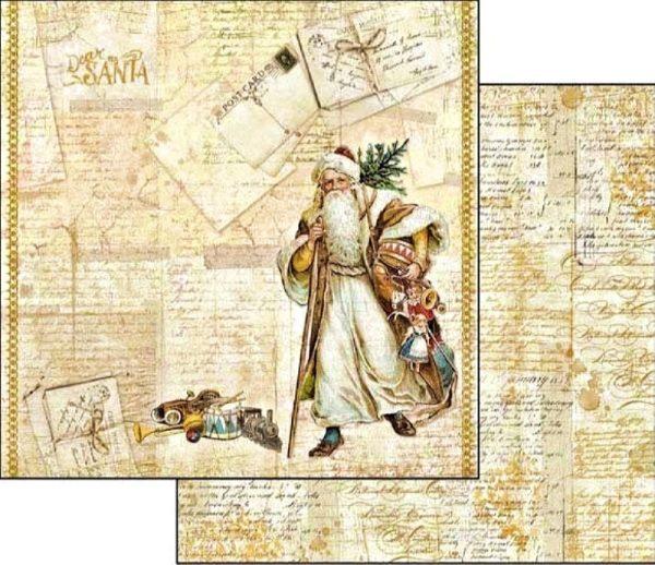 Χαρτί Scrapbooking 5001708 Stamperia Διπλής Όψης  - Christmas Santa Claus - 31x30cm