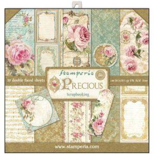 Σετ 10 Χαρτιά 5001715 Scrapbooking Stamperia Διπλής Όψης - Precious Gift - 30x30cm