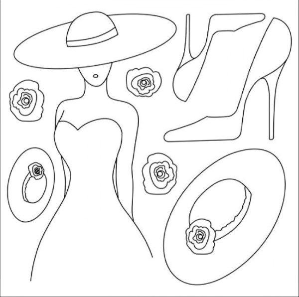 Ριζόχαρτο Χαρτοπετσέτας 5001743 - Γυναίκα με Καπέλο & Παπούτσια - 50x50cm