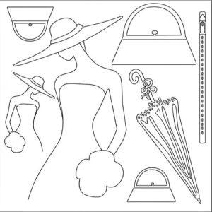 Ριζόχαρτο Χαρτοπετσέτας 5001744 - Γυναίκα με Καπέλο & Αξεσουάρ - 50x50cm