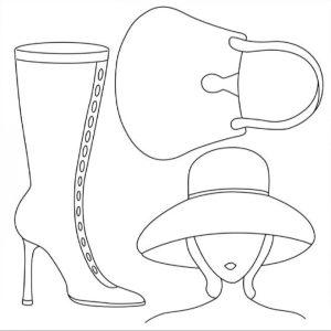 Ριζόχαρτο Χαρτοπετσέτας 5001745 - Γυναίκα με Μπότα & Τσάντα - 50x50cm