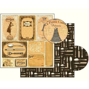 Χαρτί Scrapbooking 5001759 Stamperia Διπλής Όψης  - Recipes - 31x30cm