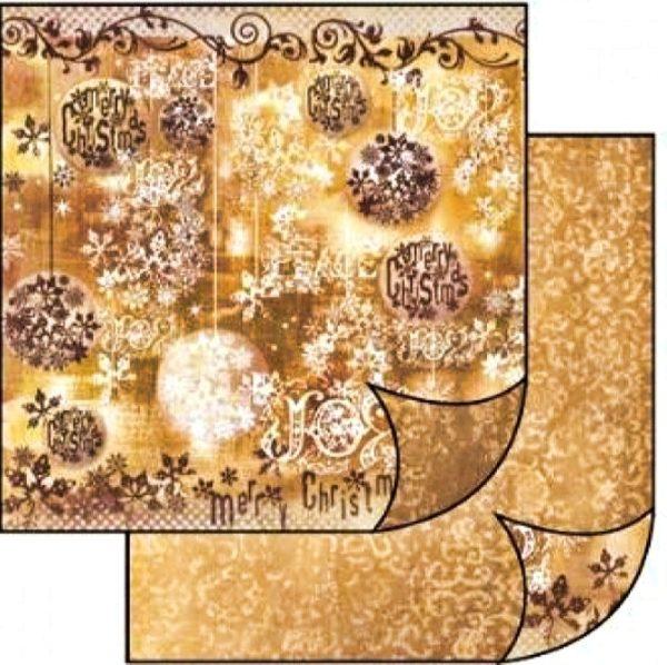 Χαρτί Scrapbooking 5001767 Stamperia Διπλής Όψης  - Merry Christmas - 31x30cm