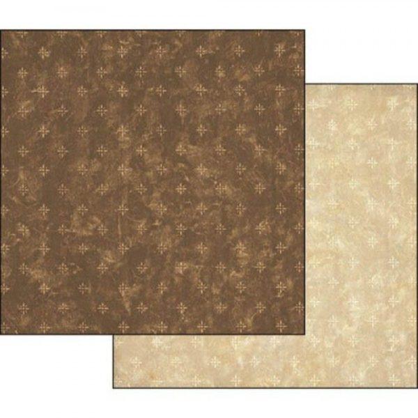 Χαρτί Scrapbooking 5001775 Stamperia Διπλής Όψης - Brown Dots - 31x30cm