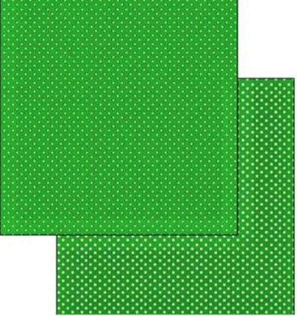 Χαρτί Scrapbooking 5001777 Stamperia Διπλής Όψης - Dark green Polka dot - 31x30cm