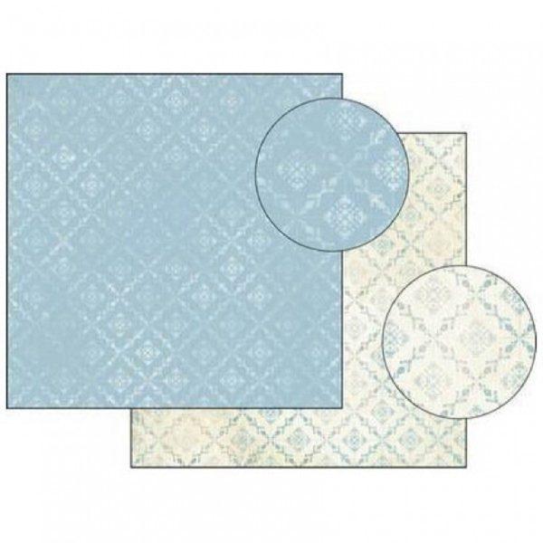 Χαρτί Scrapbooking 5001778 Stamperia Διπλής Όψης - Blue Texture - 31x30cm