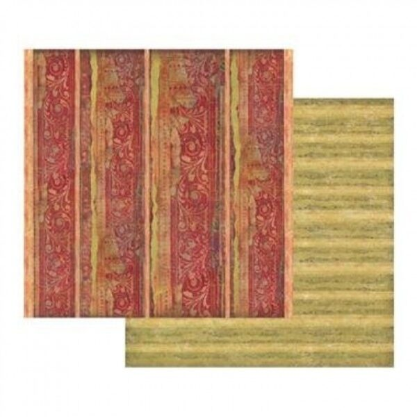 Χαρτί Scrapbooking 5001782 Stamperia Διπλής Όψης - Red Texture - 31x30cm