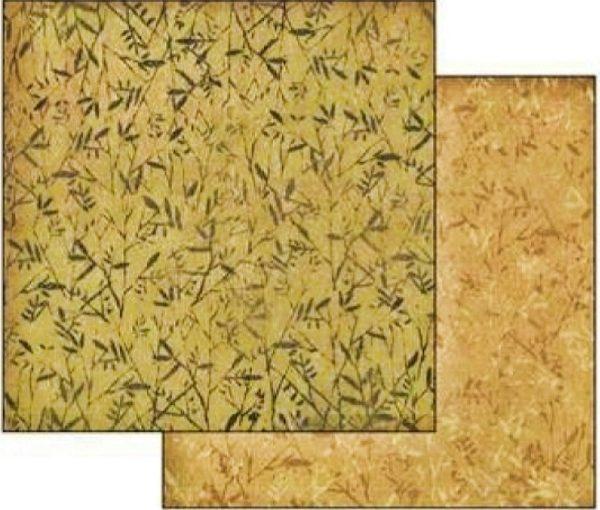 Χαρτί Scrapbooking 5001783 Stamperia Διπλής Όψης  - Fern Texture - 31x30cm