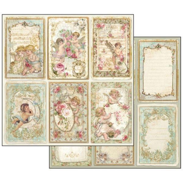 Χαρτί Scrapbooking 5001868 Stamperia Διπλής Όψης - Angel Cards - 31x30cm