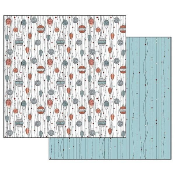 Χαρτί Scrapbooking 5001869 Stamperia Διπλής Όψης - Texture Spheres - 31x30cm