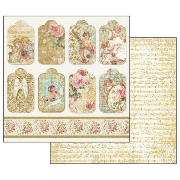 Χαρτί Scrapbooking 5001870 Stamperia Διπλής Όψης - Angel Tag - 31x30cm
