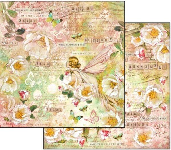 Χαρτί Scrapbooking 5001872 Stamperia Διπλής Όψης - Fairy - 31x30cm