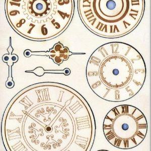 Ξύλινα Προ-κομμένα Διακοσμητικά Stamperia 5001876 - Α5 Ρολόγια & Δείκτες