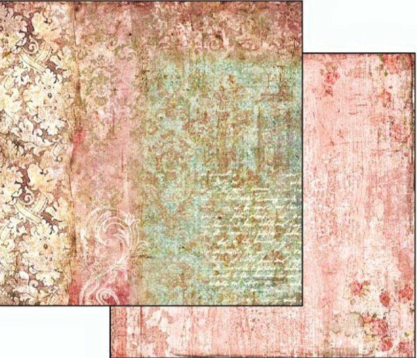 Χαρτί Scrapbooking 5002019 Stamperia Διπλής Όψης - Dream Texture Tapestry - 31x30cm