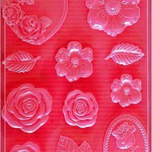 Εύκαμπτο Καλούπι Stamperia 5002028 για Σαπούνι-Γύψο  - 21x29.7cm - Τριαντάφυλλα
