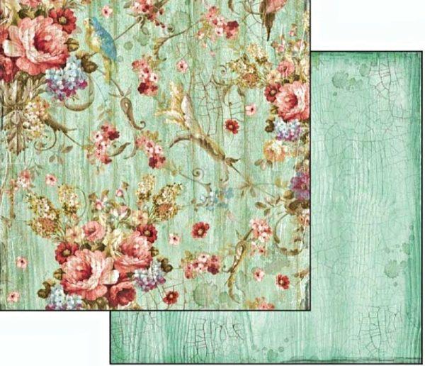 Χαρτί Scrapbooking 5002037 Stamperia Διπλής Όψης  - Liberty Flowers - 31x30cm