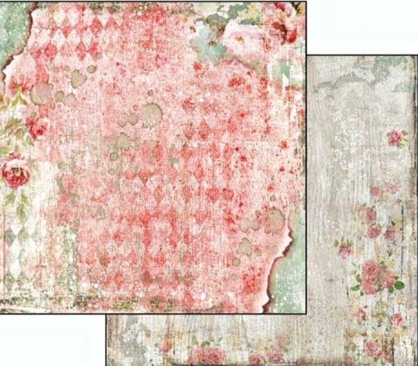 Χαρτί Scrapbooking 5002040 Stamperia Διπλής Όψης - Dream Texture with Rose - 31x30cm