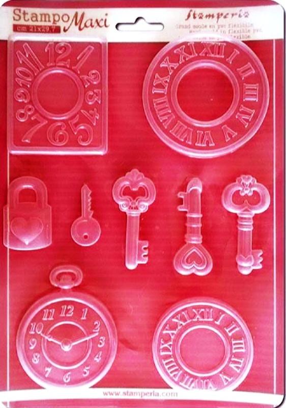 Εύκαμπτο Καλούπι για Σαπούνι-Γύψο 5002074 - 21x29.7cm - Ρολόγια & Κλειδιά