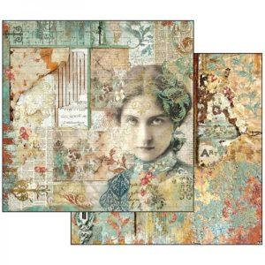 Χαρτί Scrapbooking 5002130 Stamperia Διπλής Όψης - Time is an Illusion Face - 31x30cm