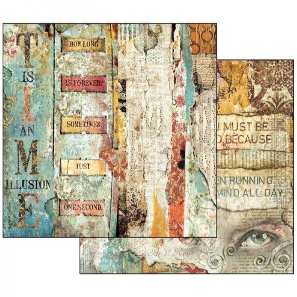 Χαρτί Scrapbooking 5002131 Stamperia Διπλής Όψης - Time is an Illusion Little Labels - 31x30cm
