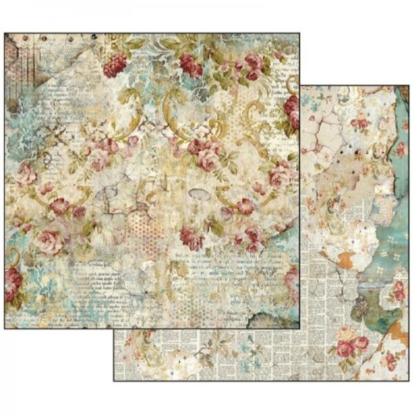 Χαρτί Scrapbooking 5002132 Stamperia Διπλής Όψης - Time is an Illusion Floral Texture - 31x30cm