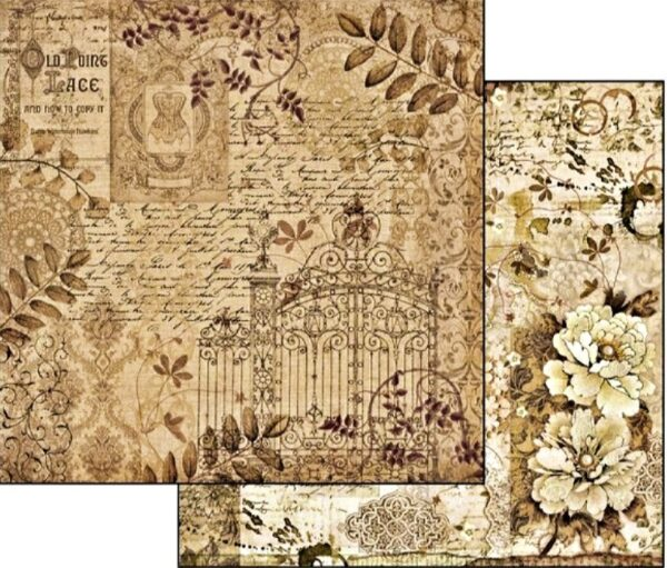 Χαρτί Scrapbooking 5002133 Stamperia Διπλής Όψης  - Old Lace Gate - 31x30cm