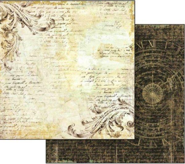 Χαρτί Scrapbooking 5002134 Stamperia Διπλής Όψης  - Old Lace - 31x30cm