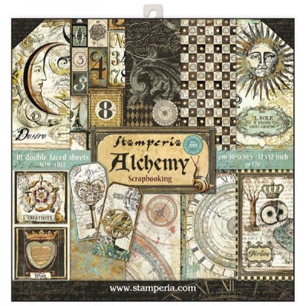 Σετ 10 Χαρτιά 5002140 Scrapbooking Stamperia Διπλής Όψης  - Alchemy - 30x30cm